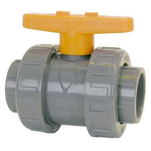Кран PVC сферичен