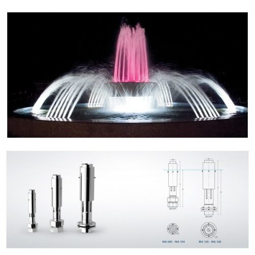 Дюзи за фонтан AERATING